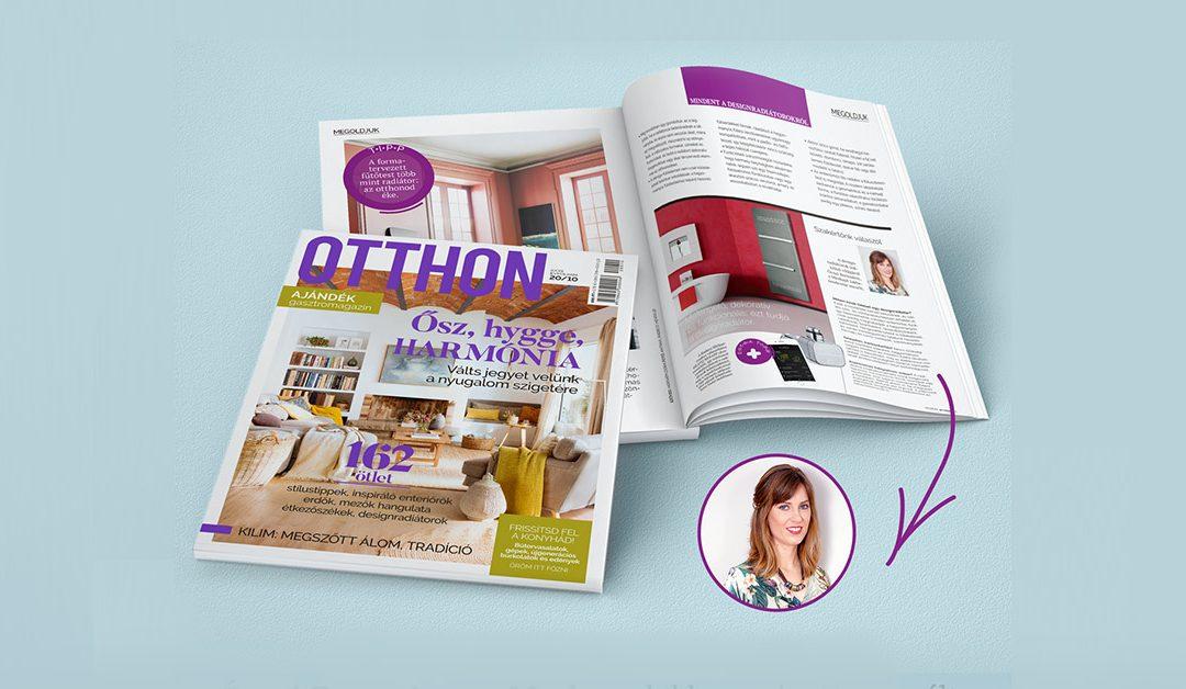 Design Radiátorokról az Otthon Magazinban